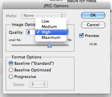 how to change default photo size ipad