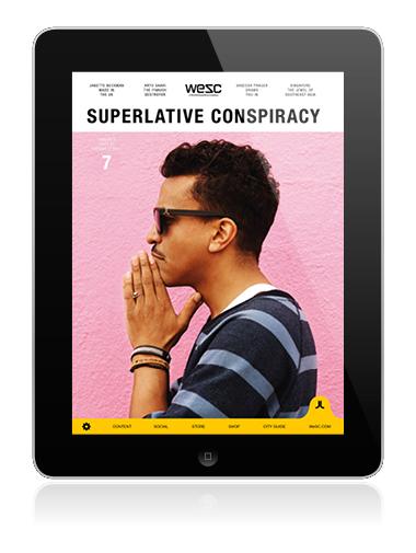 WeSC iPad App Created with mag+